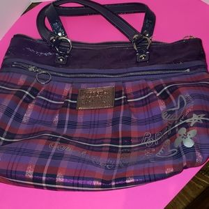 Coach poppy purse. Purple euc